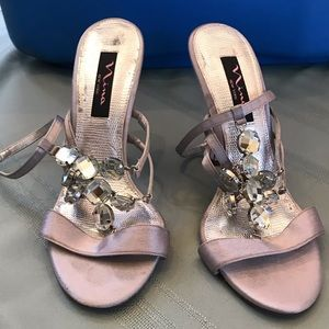 Nina gray/silver sandals with jewel details